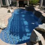 Custom Tile Work Viking Fiberglass Inground Swimming Pools 53