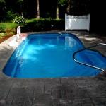 Custom Tile Work Viking Fiberglass Inground Swimming Pools 60