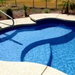 Custom Tile Work Viking Fiberglass Inground Swimming Pools 68