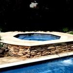 Custom Tile Work Viking Fiberglass Inground Swimming Pools 7