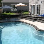 Custom Tile Work Viking Fiberglass Inground Swimming Pools 74