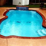 Custom Tile Work Viking Fiberglass Inground Swimming Pools 75
