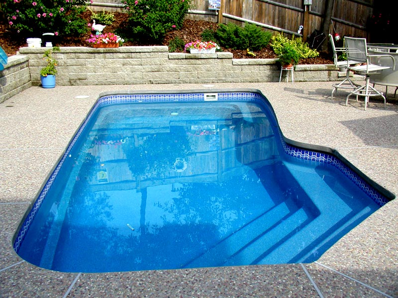 Custom Tile Work Viking Fiberglass Inground Swimming Pools 8 Calm Water Pools