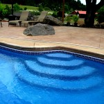 Custom Tile Work Viking Fiberglass Inground Swimming Pools 81