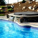 Custom Tile Work Viking Fiberglass Inground Swimming Pools 83