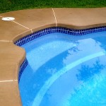 Custom Tile Work Viking Fiberglass Inground Swimming Pools 89