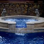 Custom Tile Work Viking Fiberglass Inground Swimming Pools 97