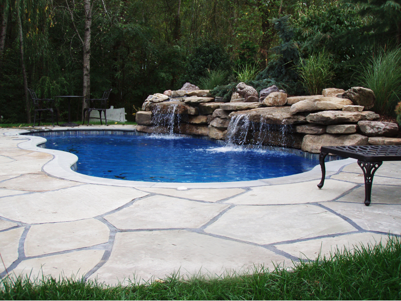 Fiberglass Swimming Pool Paint Color Finish Pacific Blue 4 Calm Water Pools