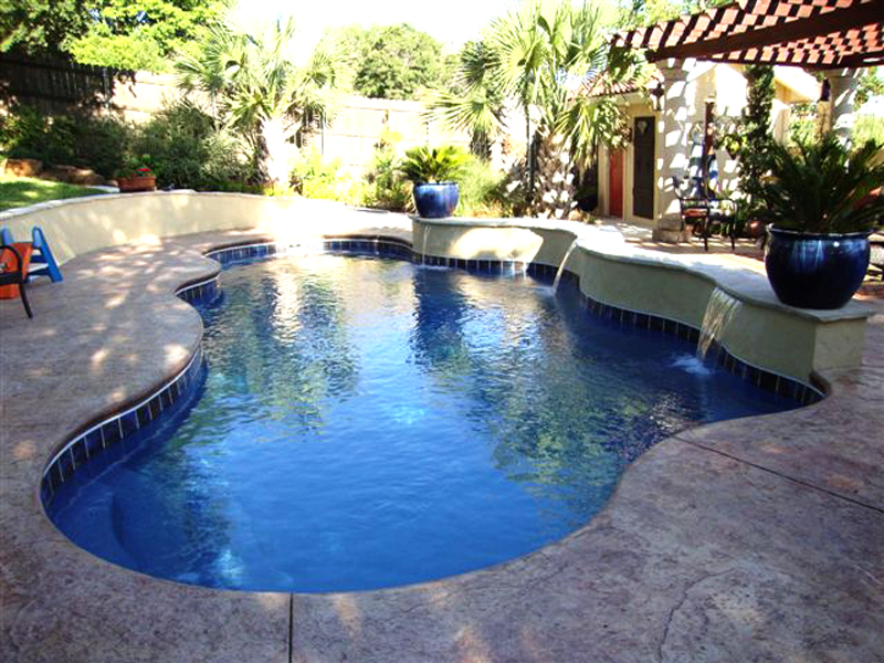 Fiberglass Swimming Pool Paint Color Finish Pacific Blue 6 Calm Water Pools