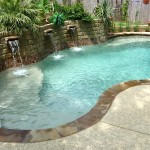 Fiberglass Swimming Pool Paint Color Finish Pebble Beach 10