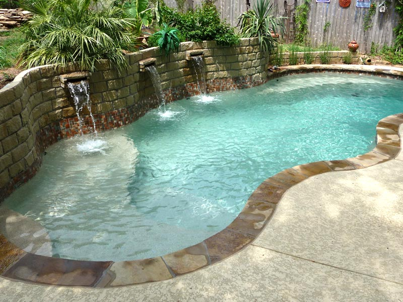 Swimming pool paint colors diamond finishes viking pools for Pebble finishes for swimming pools