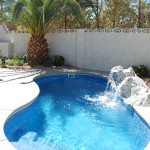 Fiberglass Swimming Pool Paint Color Finish Sapphire Blue 18