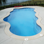 Fiberglass Swimming Pool Paint Color Finish Sapphire Blue 19