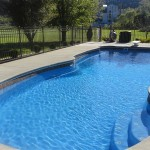 Fiberglass Swimming Pool Paint Color Finish Sapphire Blue 29