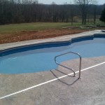 Fiberglass Swimming Pool Paint Color Finish Sapphire Blue 31