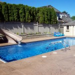 Fiberglass Swimming Pool Paint Color Finish Sapphire Blue 33