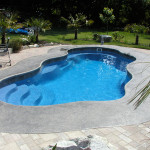Fiberglass Swimming Pool Paint Color Finish Sapphire Blue 36