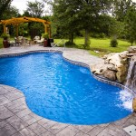 Fiberglass Swimming Pool Paint Color Finish Sapphire Blue 7