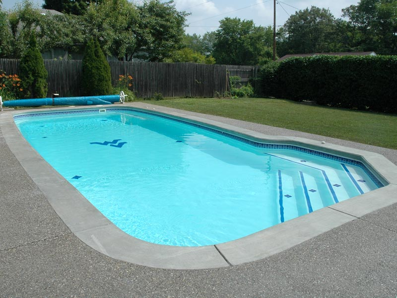 fiberglass swimming pool paint color finish viking blue 7