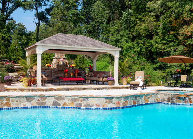 Gazebos pergolas pavilions patio sets in dc md va for Pool design virginia