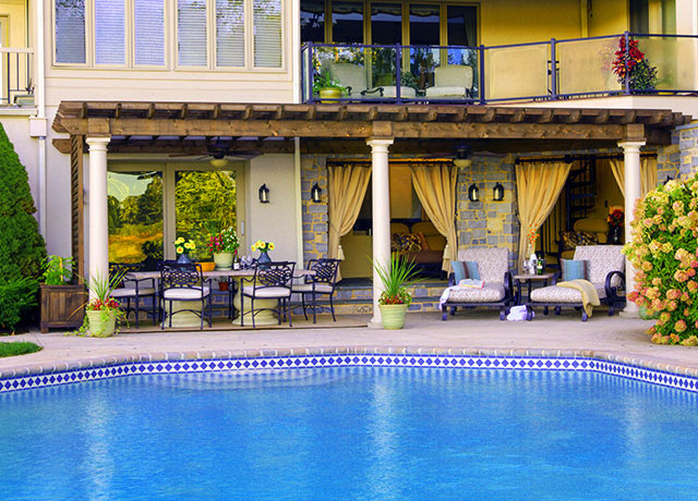 Gazebos pergolas pavilions patio sets in dc md va for Pool design virginia