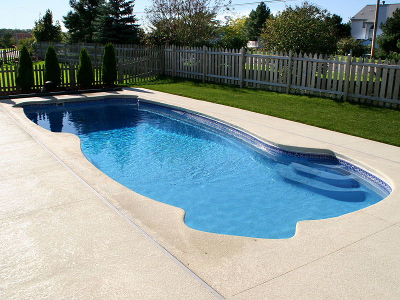 Gulf coast large fiberglass inground viking swimming pool for Fiberglass inground swimming pools