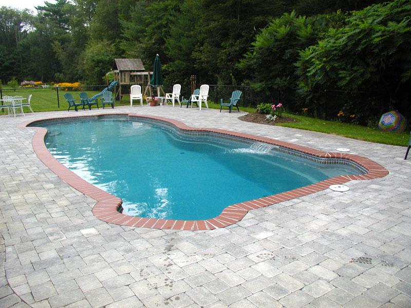 Gulf coast large fiberglass inground viking swimming pool for Large swimming pools