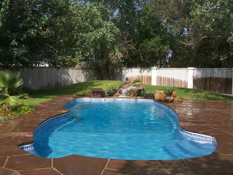 Gulf coast large fiberglass inground viking swimming pool - How big is an average swimming pool ...