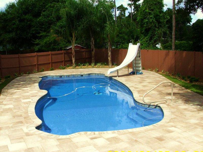 Gulf coast large inground fiberglass viking pool 71 calm for Large inground pools