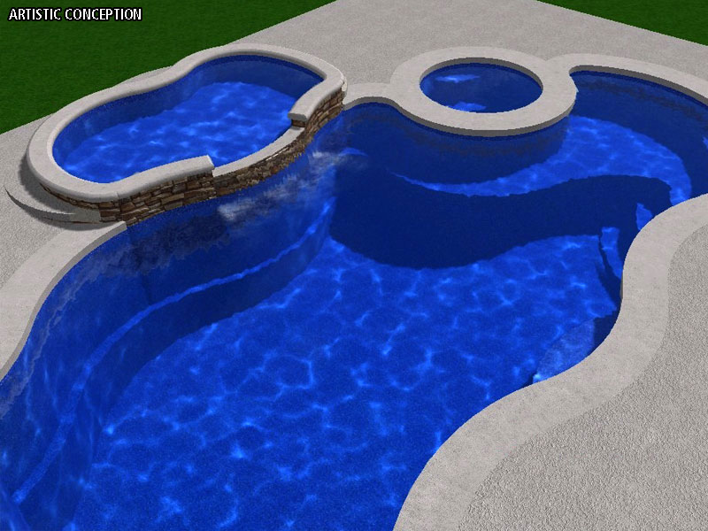 Hermosa Tanning Ledge Viking Fiberglass Swimming Pools