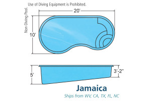 Jamaica Small Inground Fiberglass Viking Pool Design