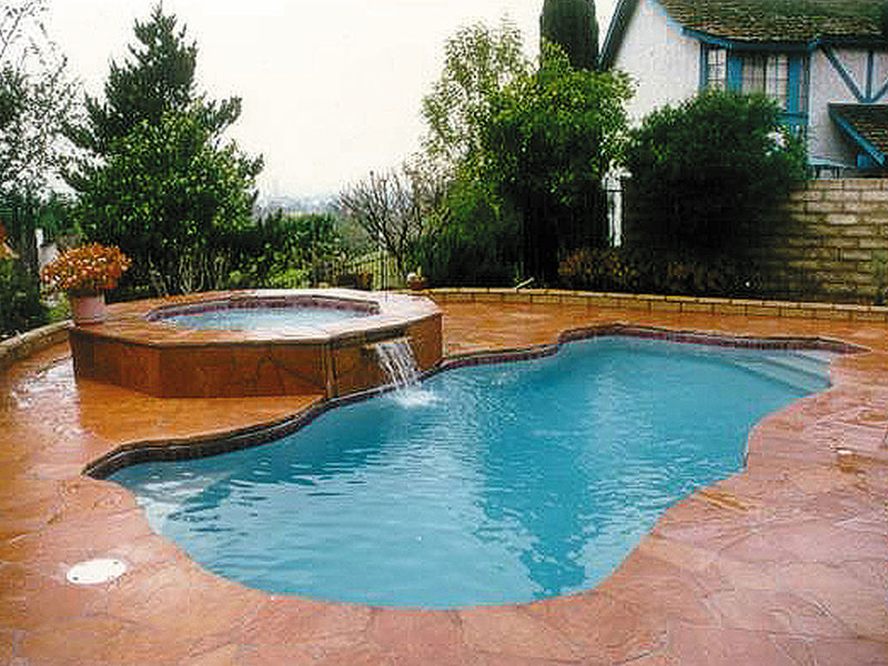 Key west medium fiberglass inground viking swimming pool for Fiberglass inground swimming pools