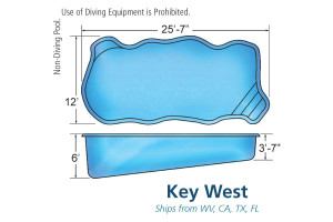 Key West Medium Inground Fiberglass Viking Pool Design