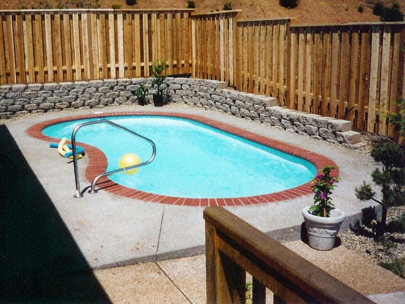 Maui small fiberglass inground viking swimming pool for Kidney shaped above ground pool