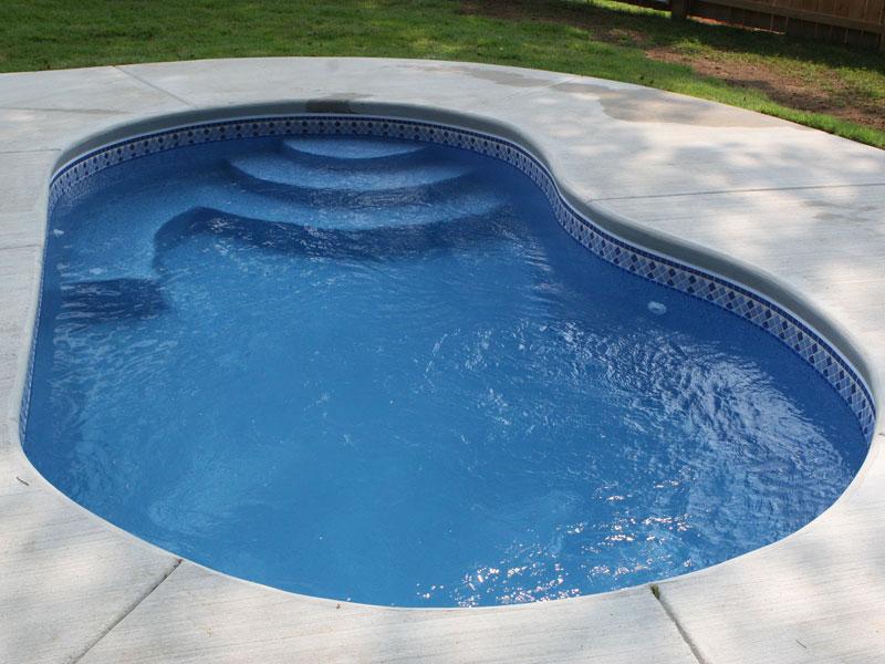Maui small fiberglass inground viking swimming pool for Fiberglass swimming pools