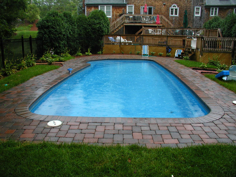 Mediterranean large fiberglass viking swimming pool for Fiberglass inground swimming pools