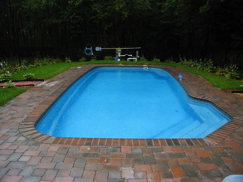 Mediterranean Large Fiberglass Viking Swimming Pool