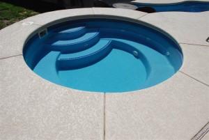Mystic Spillover Round Fiberglass Viking Spa Pool 1
