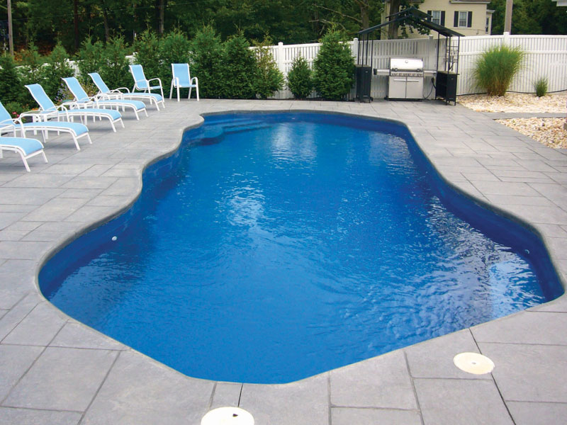 Oceania large fiberglass inground viking swimming pool for Fiberglass inground swimming pools