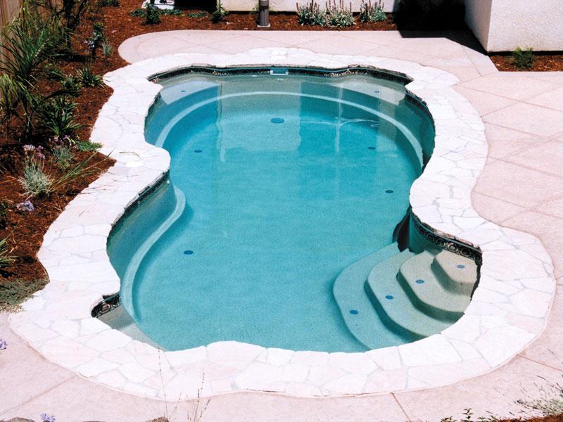 Rockport Medium Fiberglass Inground Viking Swimming Pool