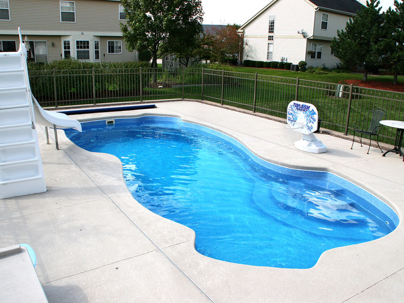 Rockport Medium Fiberglass Inground Viking Swimming Pool