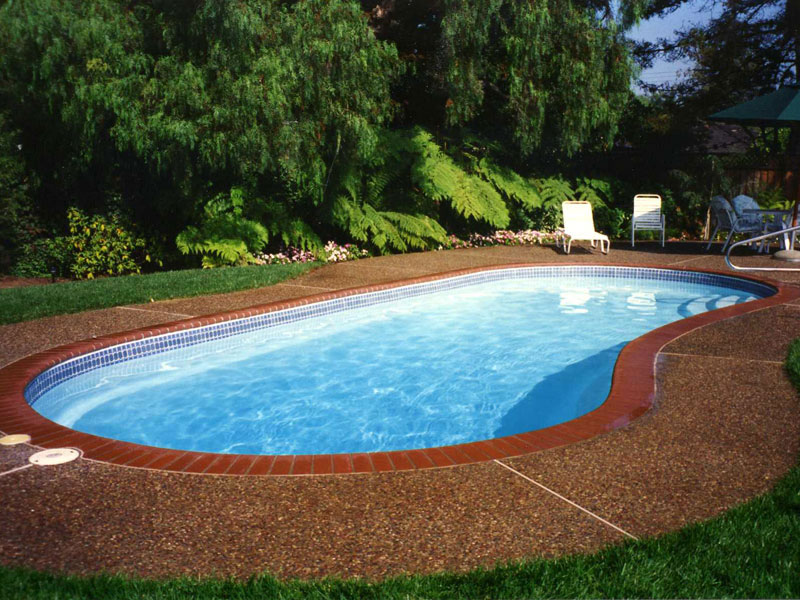 Sea breeze large fiberglass inground viking swimming pool for Fiberglass pools above ground