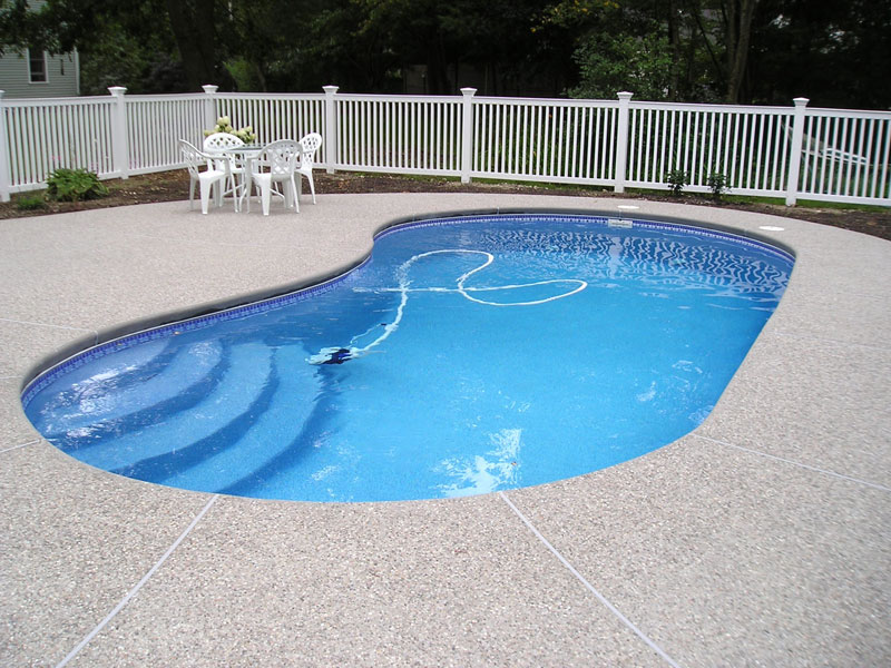 Sea breeze large fiberglass inground viking swimming pool for Fiberglass inground swimming pools