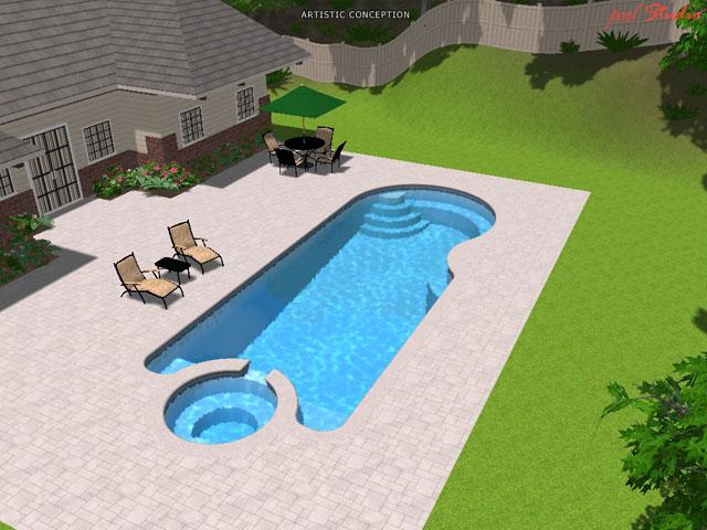 trinidad large inground fiberglass viking pool 1 - Above Ground Fiberglass Swimming Pools