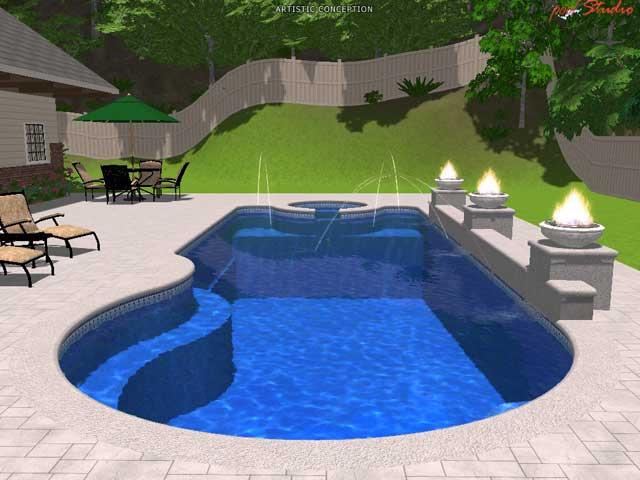 Trinidad Large Fiberglass Inground Viking Swimming Pool
