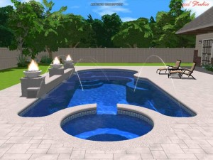 Trinidad large fiberglass inground viking swimming pool for Pool design virginia