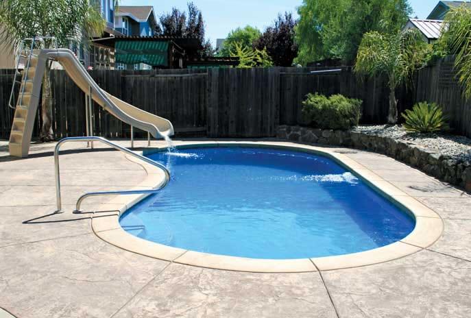 Valencia large fiberglass inground viking swimming pool for Large inground pools
