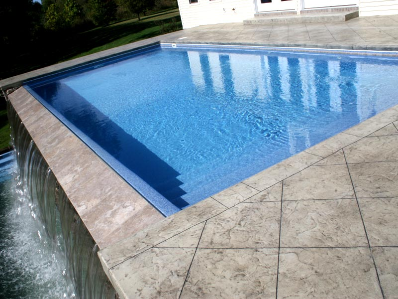 Vanishing Edges Viking Fiberglass Inground Swimming Pools