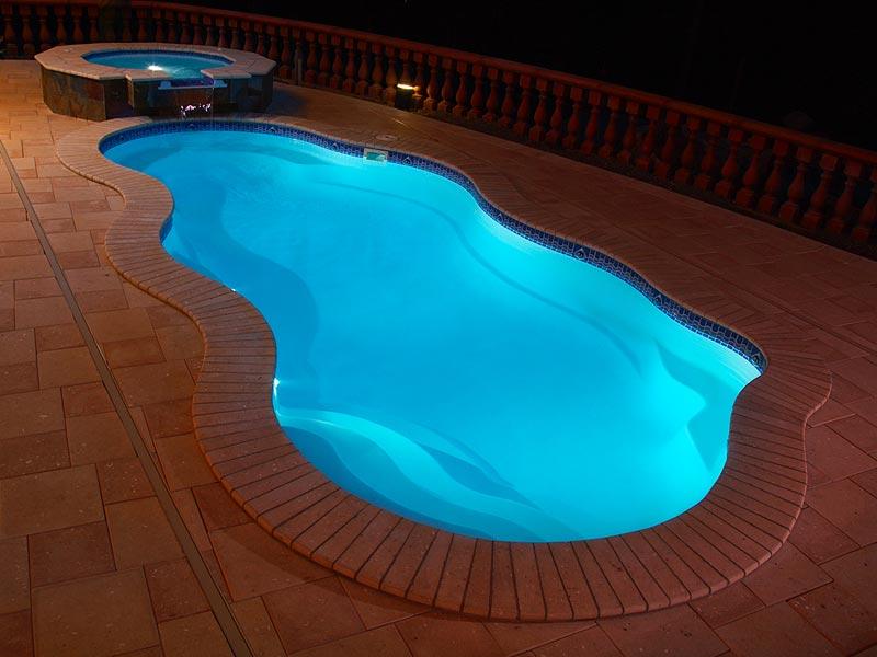 viking fiberglass inground swimming pool lighting. Black Bedroom Furniture Sets. Home Design Ideas