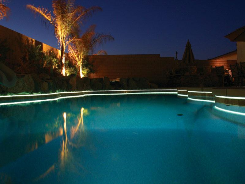 Viking fiberglass inground swimming pool lighting for Pool design lighting